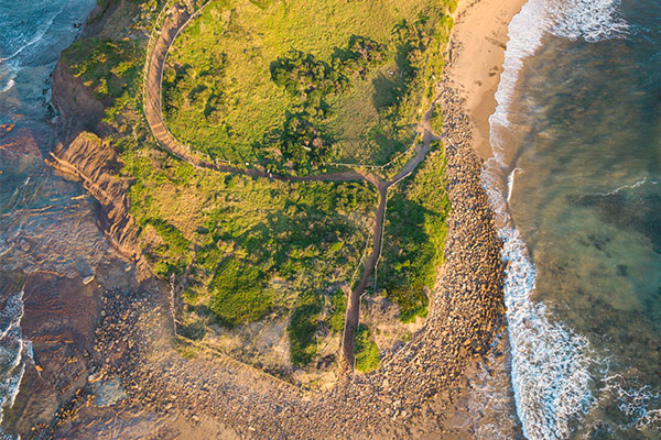The Emerald Way - Aerial photo